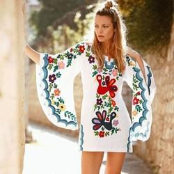 Butterfly Kaftan Mini Dress