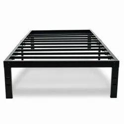 Aditya Furniture Powder Coated Metal Single Bed, Size: 6x3 Feet