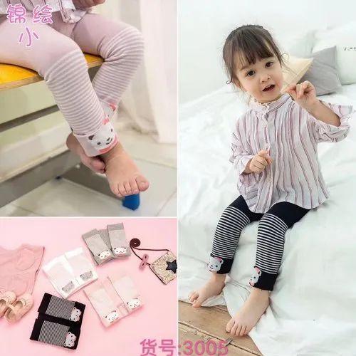 Fleece Casual Wear Kids Leggings