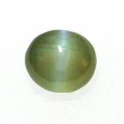 Dark Greenish Yellow Chrysoberyl Cats Eye Stone