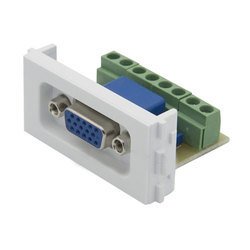 VGA Female Connector for Wall Plate Screw Fitting Connector