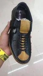 Mens Brown Leather Roman Sandal