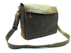 Leather Executive Laptop Messenger Bag
