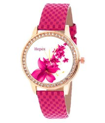White hepex Roze Gold Watch, h.t 0121, Warranty: 3 Month