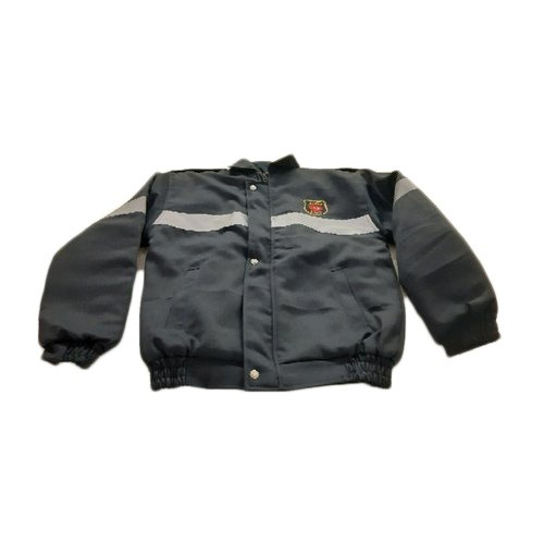 Black Woollen Full Sleeve Security Guard Jacket