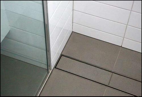 Tile Insert Shower Drain Channel