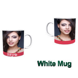 White Ceramic Printed Mug, Packaging Type: Box, for Office