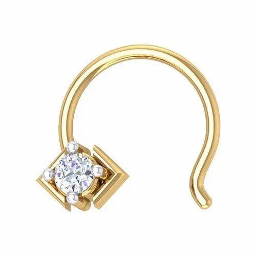 Gold Diamond New Np 58 Yellow Gold Diamond Nose Stud Rs 4992