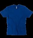 Mens Cotton Blue Round Neck T Shirt, Size: S-xl