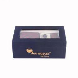 3 Pc Men's Wedding Gift Wear Maroon Blue Cubes Aarogyaa Micro Zacard Silk Tie Neck Set Cuff Links Sc