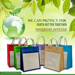 Multicolor Jute Promotional Bags