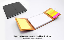 Two Side Open Memo Pad Book