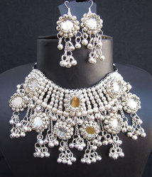 Navratri Rabari Vintage Hippie Garba Dance Necklace Earrings Set