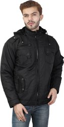 Men Winter Nylon Fur Jacket