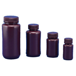 Wide Mouth Bottle HDPE Amber