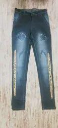 Men Printed Denim Jeans