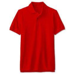 Casual Wear Half Sleeves Plain Cotton Polo T-Shirts