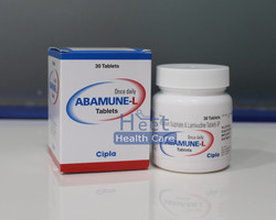Abamune-L Abacavir 600mg Lamivudine 300mg, Packaging Type: Bottle