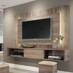 Brown LED Wooden Wall Panel