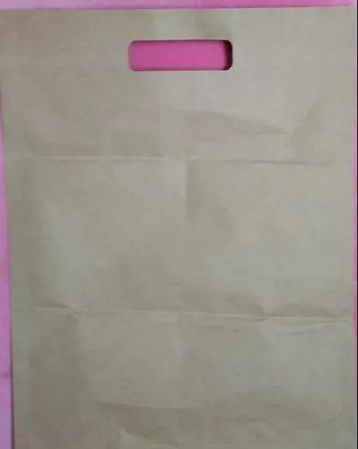 Brown D Cut Garment Shopping Bag