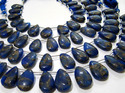 Blue Lapis Oyster Copper Turquoise Pear Beads