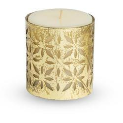 Scented Pillar Candle with Metal Grid Candle Holder 3 inches