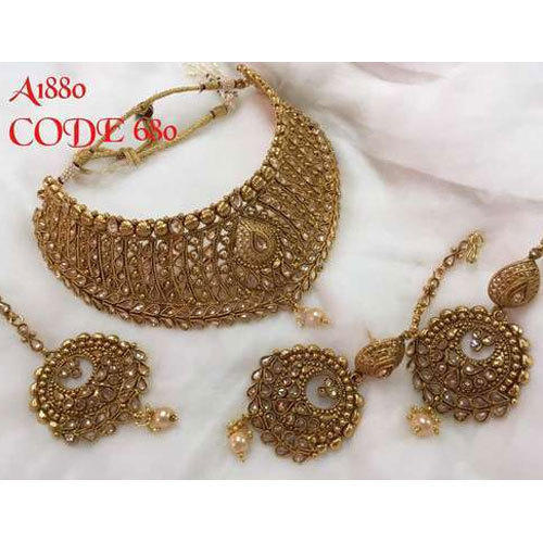 elegant classic gold antique chic jewellery set plated sets traditional ethnic necklaces women
