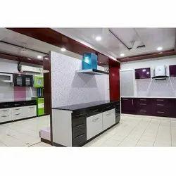 PVC Rectangular Printed Shape Modular Kitchen
