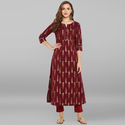 Designer Cotton Anarkali Kurti