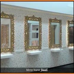 MDF Polished Mirror Frame Jaali