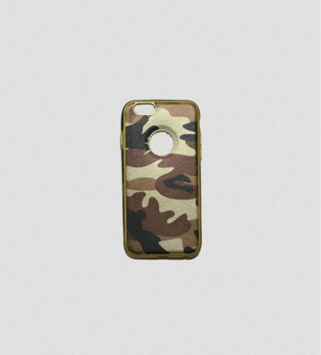 half off 8ac5d 46142 Iphone 6 & 6s Army Brown Black Badge Colour Flexible Back Cover