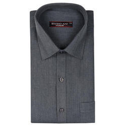 Solid Gray Color Formal Shirt
