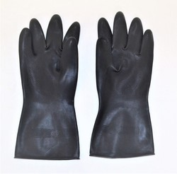Aqua Rubber Safety Hand Gloves