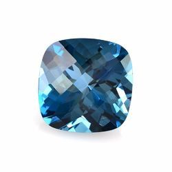 Checker Cut Blue Topaz
