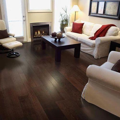 Oak Carbonised Dark Engineered Wooden Flooring Rs 396 Square Feet