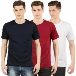 Round Neck Plain T Shirt