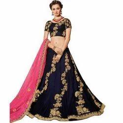 Party Wear Ladies Silk Lehenga Choli