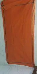 Plain Orange Cotton Gamcha, Size: 30x65