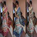 Manipuri Digital Print Saree With Blouse Piece, Length: 5.5 M