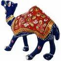 Metal Meenakari Camel Statue Enamel Work