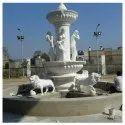 White Outdoor Gfrc Fountain