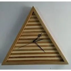 Designer Wooden Triangular Wall Clocks