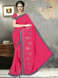 Lace Border Party Wear Saree