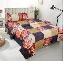 Cotton Flower Printed King Size Bed Sheet