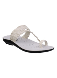 Mens White Slipper