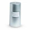 Mettalic Pillar Candle