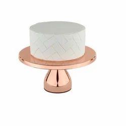 Metal Cake Stand, Shape: Round