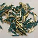 Blue Druzy Bezel Connectors 25x5mm Rectangle Gold Plated