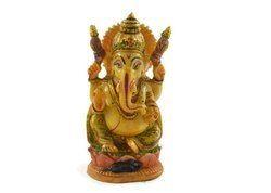Handmade Idol of Ganesha Hand Painted Resin