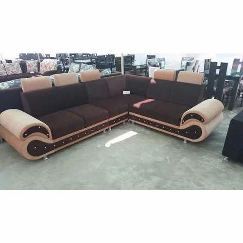 Brown 5 Seater Velvet Designer Sofa Set Warranty 5 Years Rs 10000